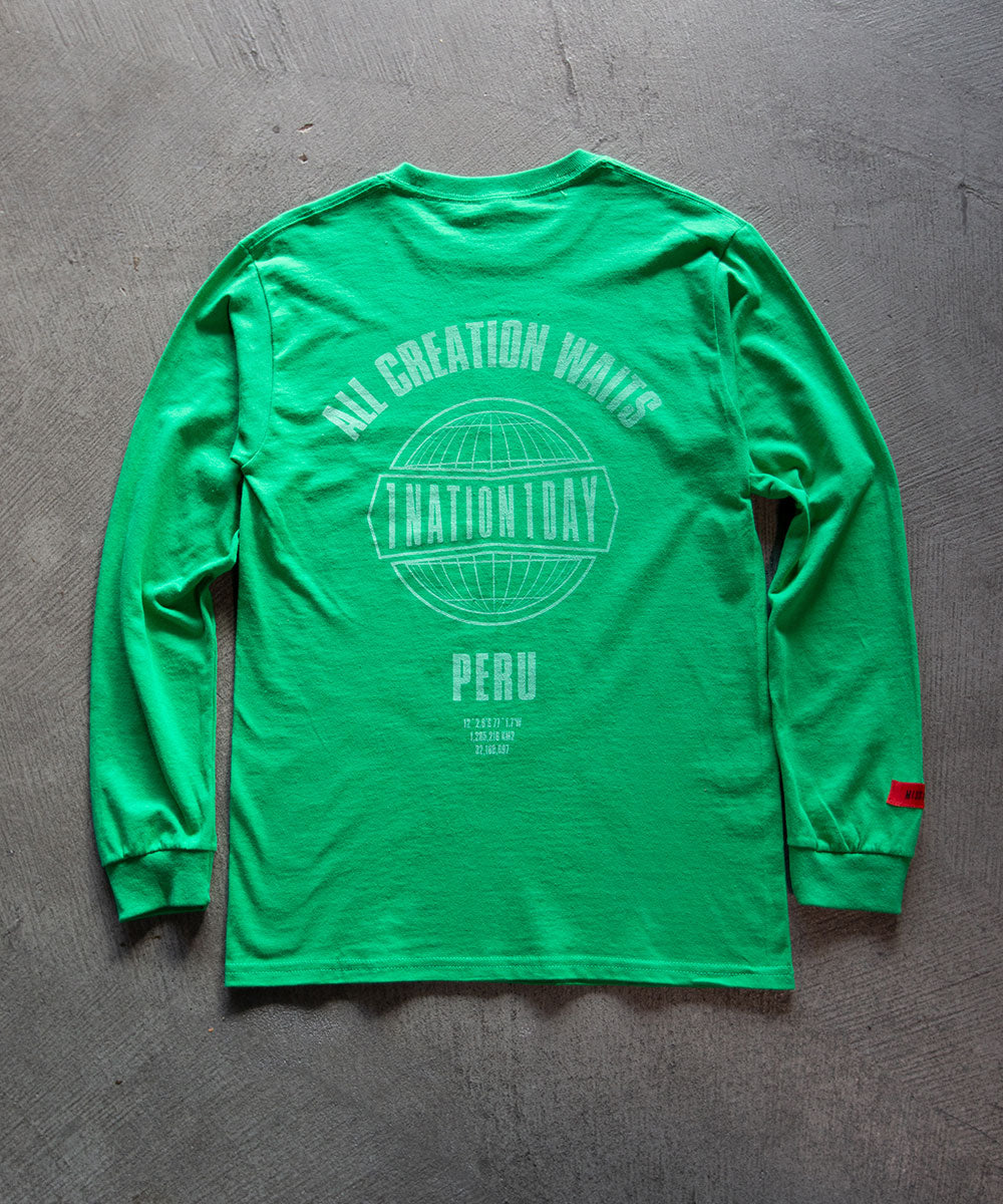 Green 1Nation1Day Long Sleeve