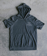 Load image into Gallery viewer, Charcoal Short Sleeve Hoodie