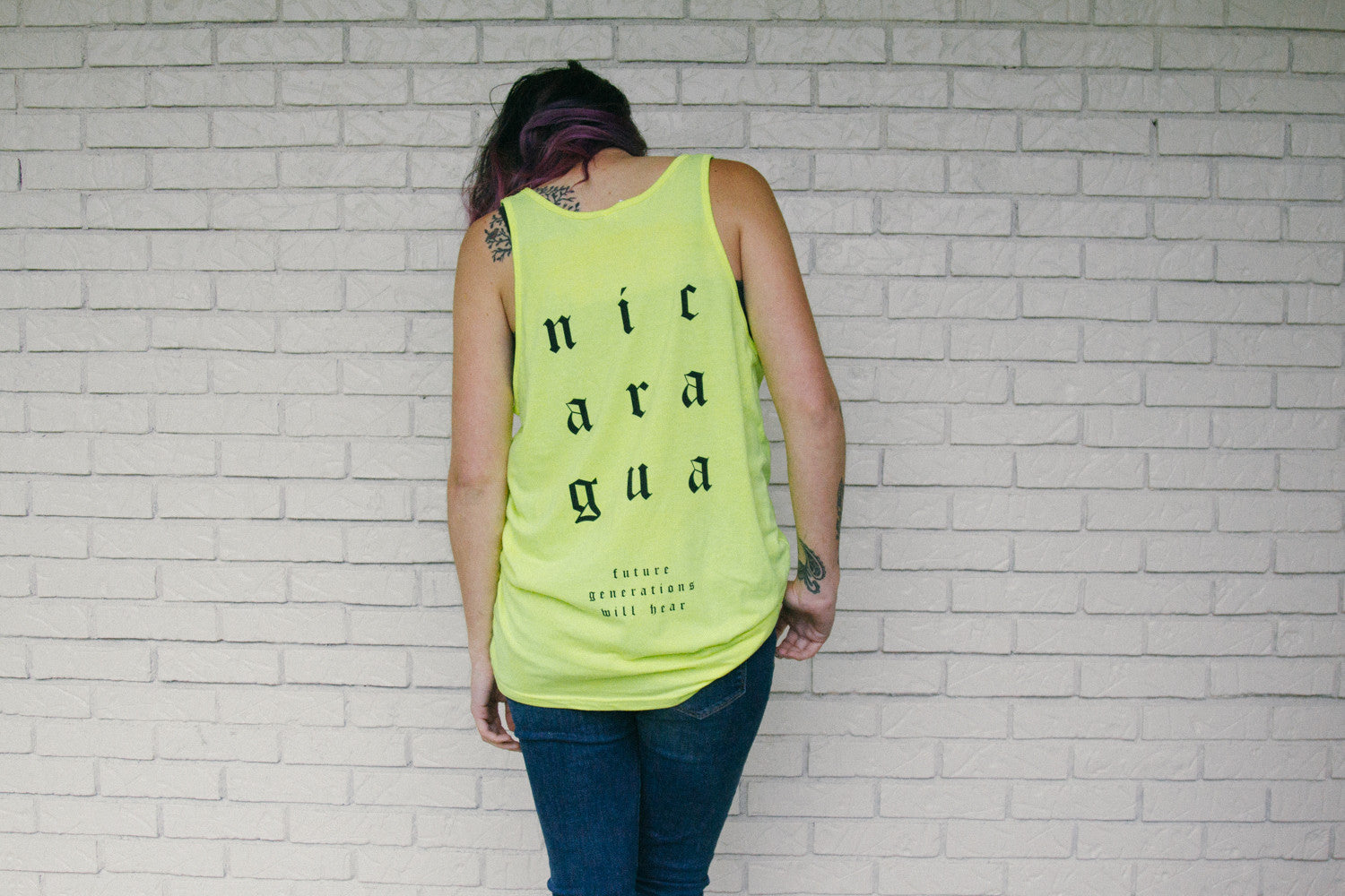 Neon Yellow 1Nation1Day Tank