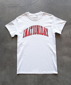 White 1Nation1Day Tee