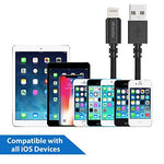 Lightning Nylon Braided cable for iPhone, iPad, iPod (Black)