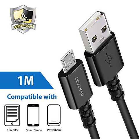 Nylon Micro USB  Cable    ( 1 Meter Black)