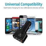 3 Port Qualcomm Quickcharge 3.0 Based Car Phone Charger for All Mobile Phones