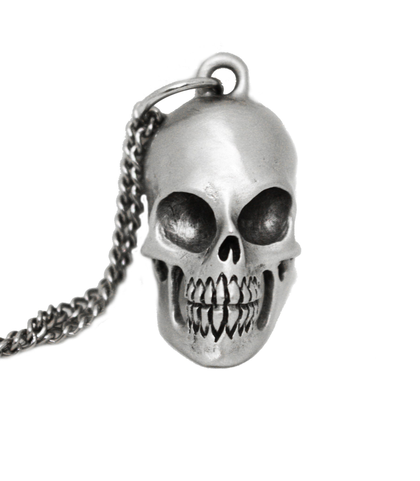 All Business Skull Pendant Necklace