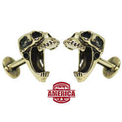 Laughing Skull Cufflinks - Bronze