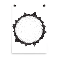 Sun Spot Illustration Poster