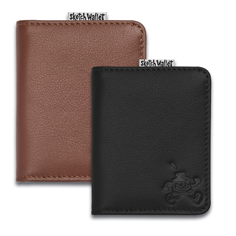 Sketch Wallet Small Leather