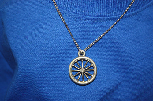 Bike Wheel Necklace