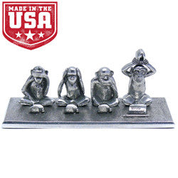 Write No Evil 4 Monkey Pen Holder