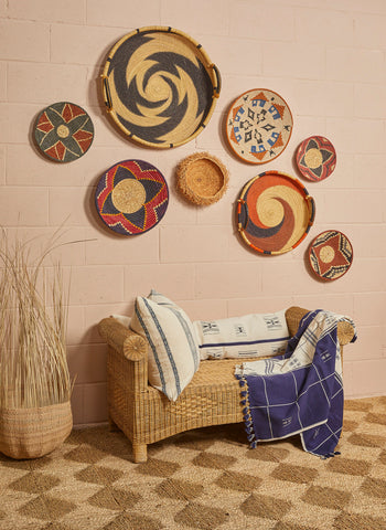 ideas for a basket wall