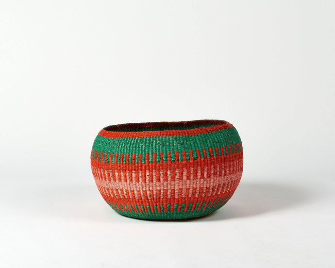 pink and green bolga bowl