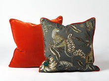 Load image into Gallery viewer, Ardmore Orange velvet cushion