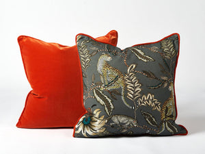 Ardmore Orange velvet cushion