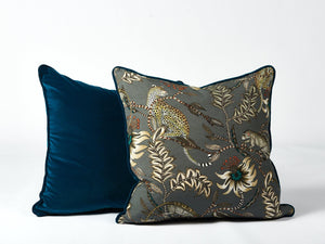 Ardmore teal velvet cushion - Hadeda Limited