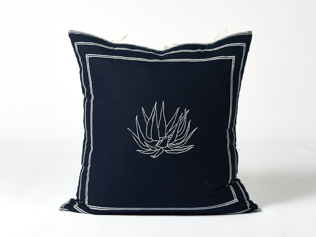 Navy Aloe Cushion