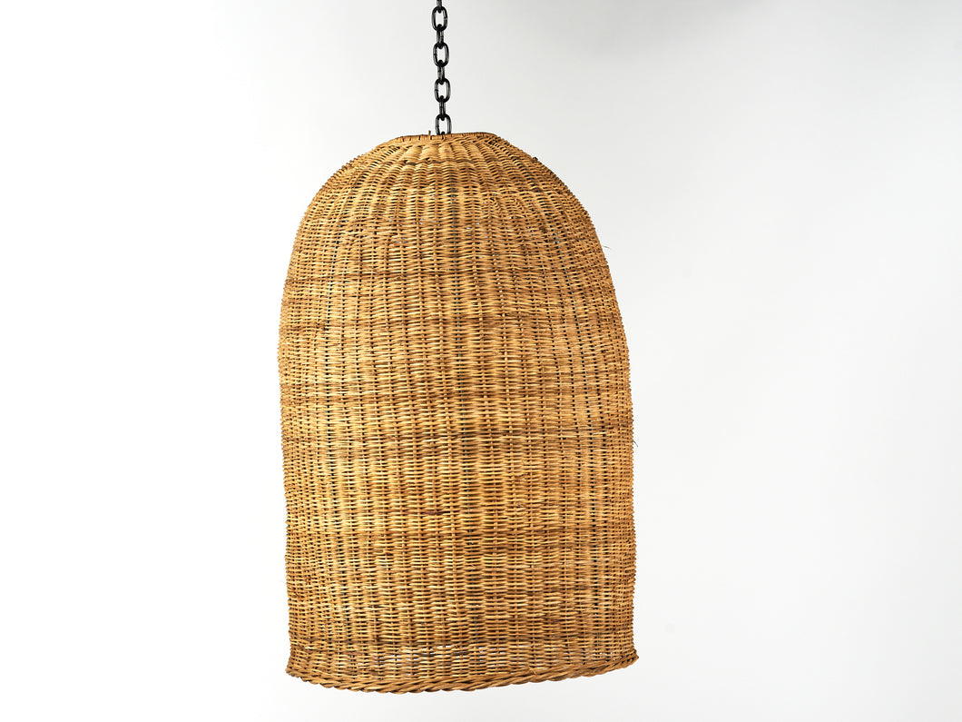 Traditional Dome Pendant Lamp Natural