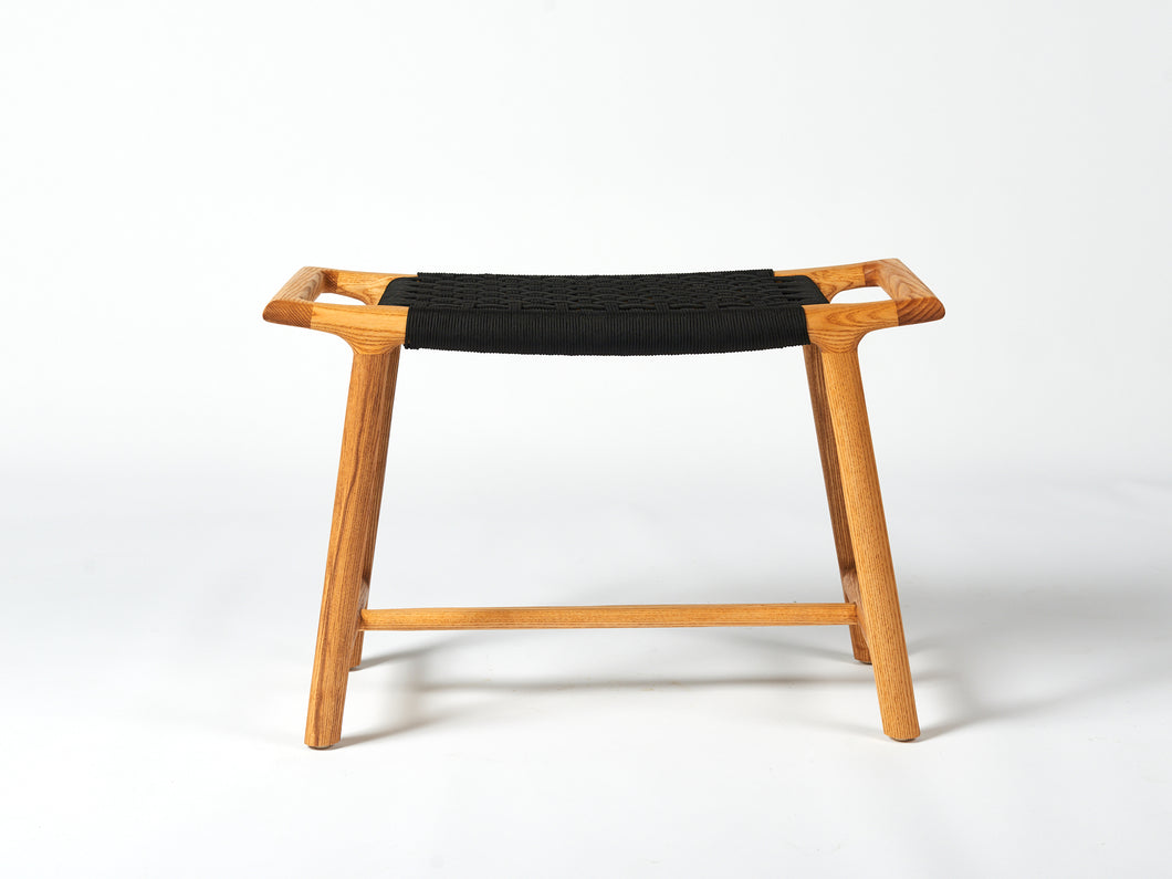 Rus stool - natural ash with black seat