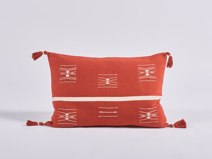 Nagaland Bolster in Red