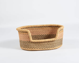 Baba Small Dog Basket in Pink and Black Dots