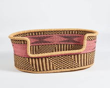 Load image into Gallery viewer, Baba Large Dog Basket in Pink Stripe