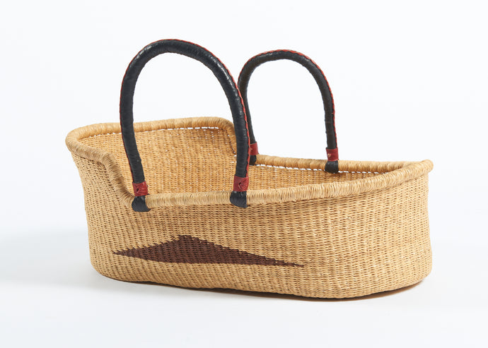 Woven Moses Basket in Natural