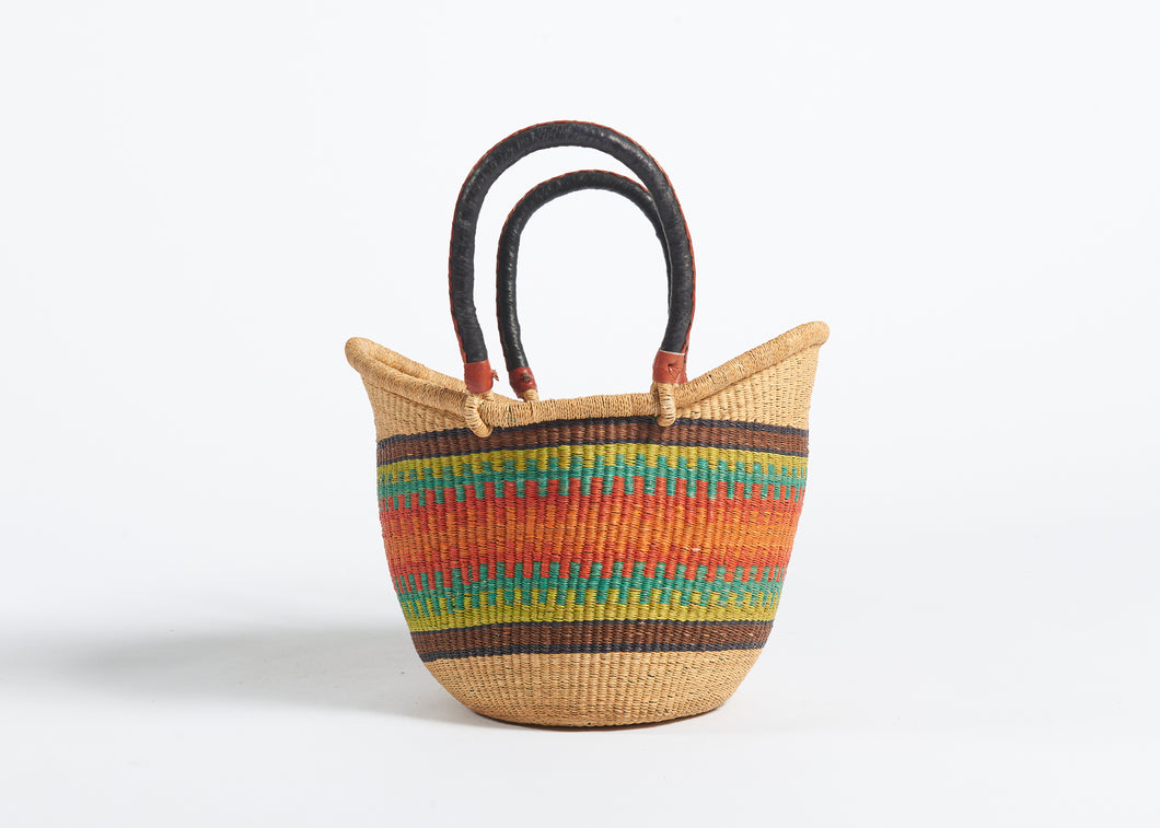 Nyariga Large Basket in Sunset Stripes