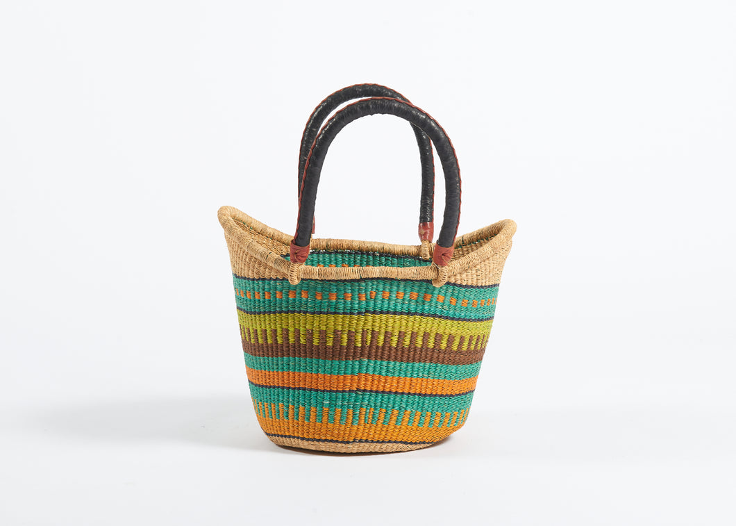 Nyariga Large Basket in Cool Stripes
