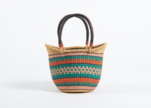 Nyariga Large Basket in Sunrise Stripes