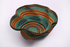 Baba Wave Basket in Orange and Teal