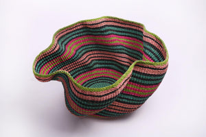 Baba Wave Basket in Bright Stripes