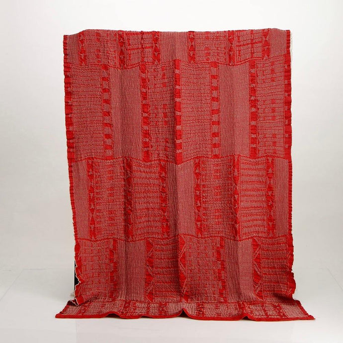 Bologan Linen Throw Red