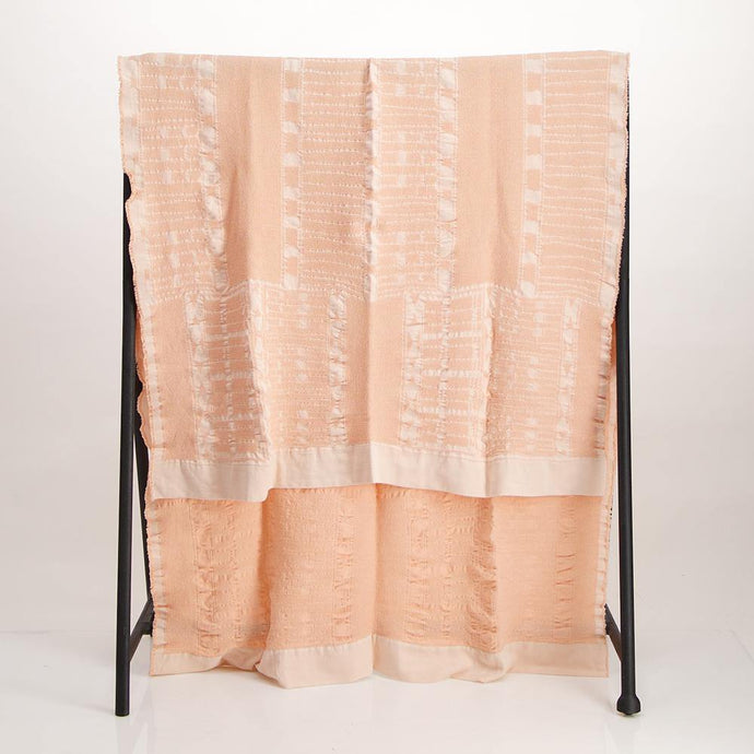 Bogolan Linen Throw Pink