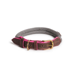 Chommies Large Dog Collar in Pink