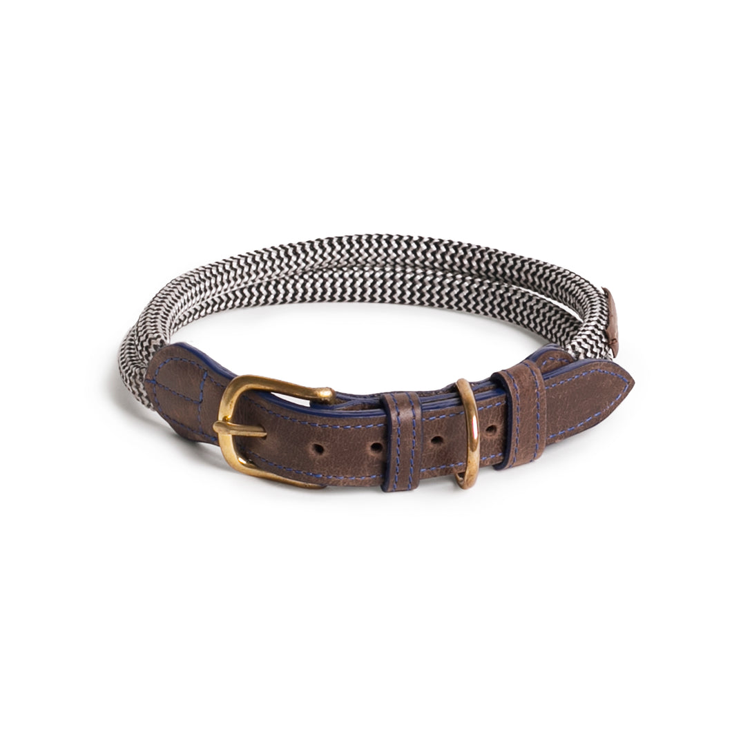 Chommies Large Dog Collar in Blue