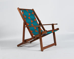Serengeti Deck Chair With Turquoise Circle African Riviera Sling