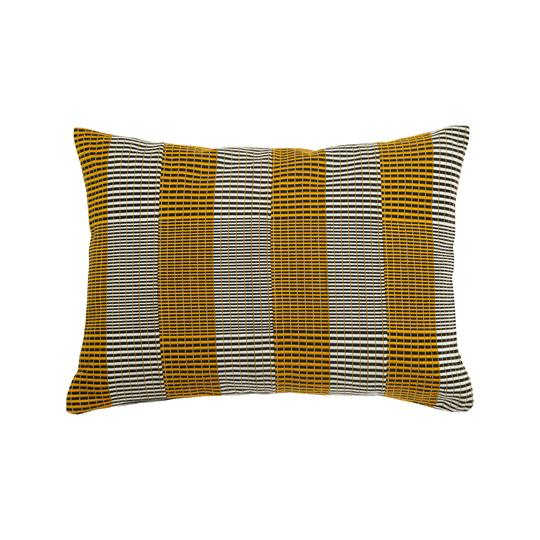 '2 Step' Kente Cushion - Gold