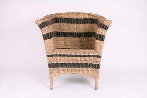 Striped Cane Chair in Black and Natural - Hadeda Limited