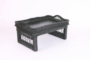 Woven tea tray in black - Hadeda Limited