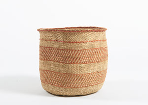 Large Iringa basket in rust and natural