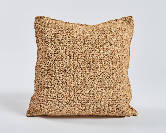 Pineapple Pattern Raffia cushion