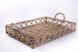 Thick Rattan Drinks Tray