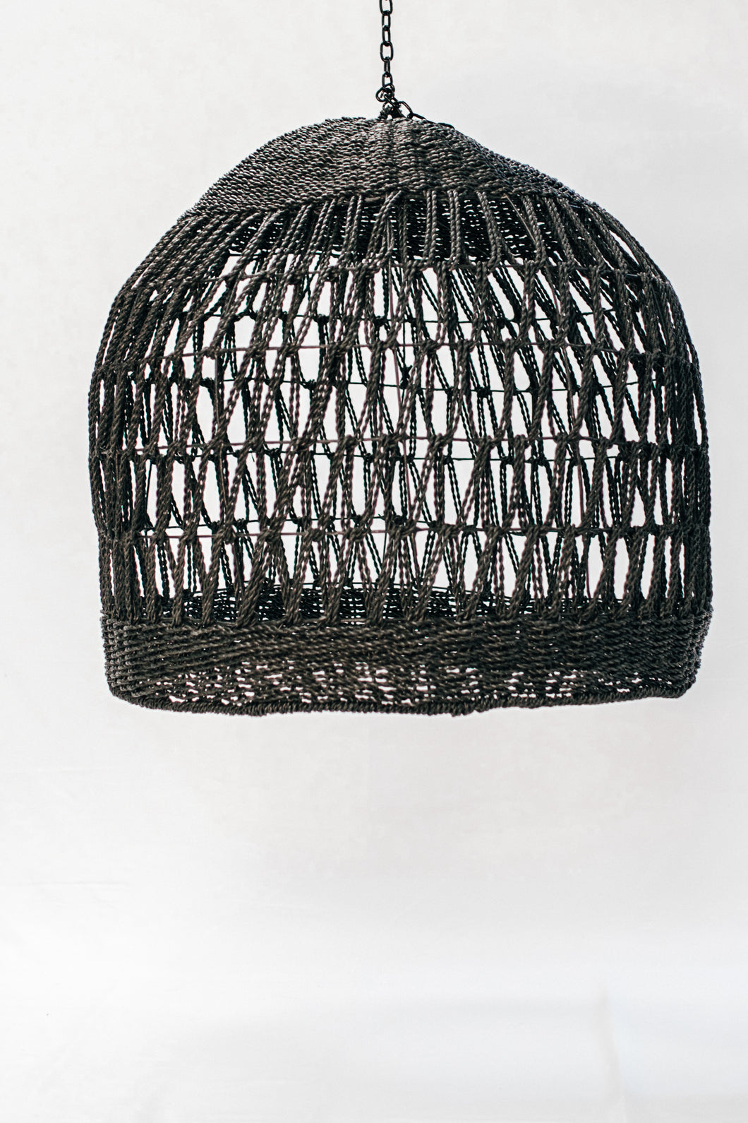 Seagrass Lampshade Black