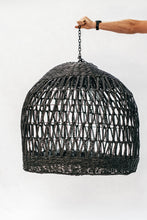 Load image into Gallery viewer, Seagrass Lampshade Black