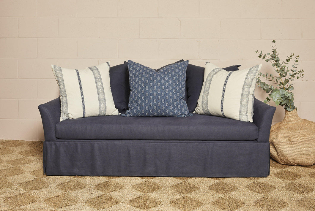 IN STOCK Axel Sofa in navy linen