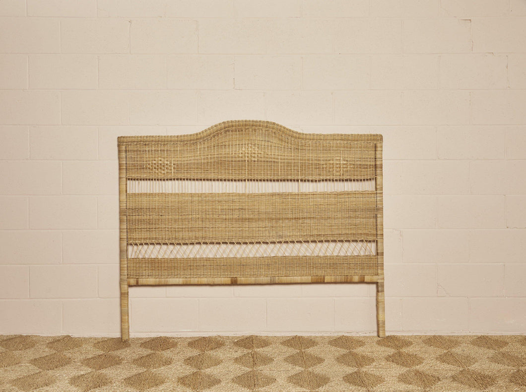 Queen size cane headboard in natural