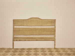 King/Superking size cane headboard in natural