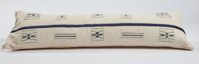 Mega Nagaland Bolster in White and blue
