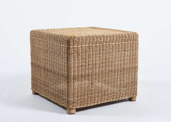 Cane Square Side Table