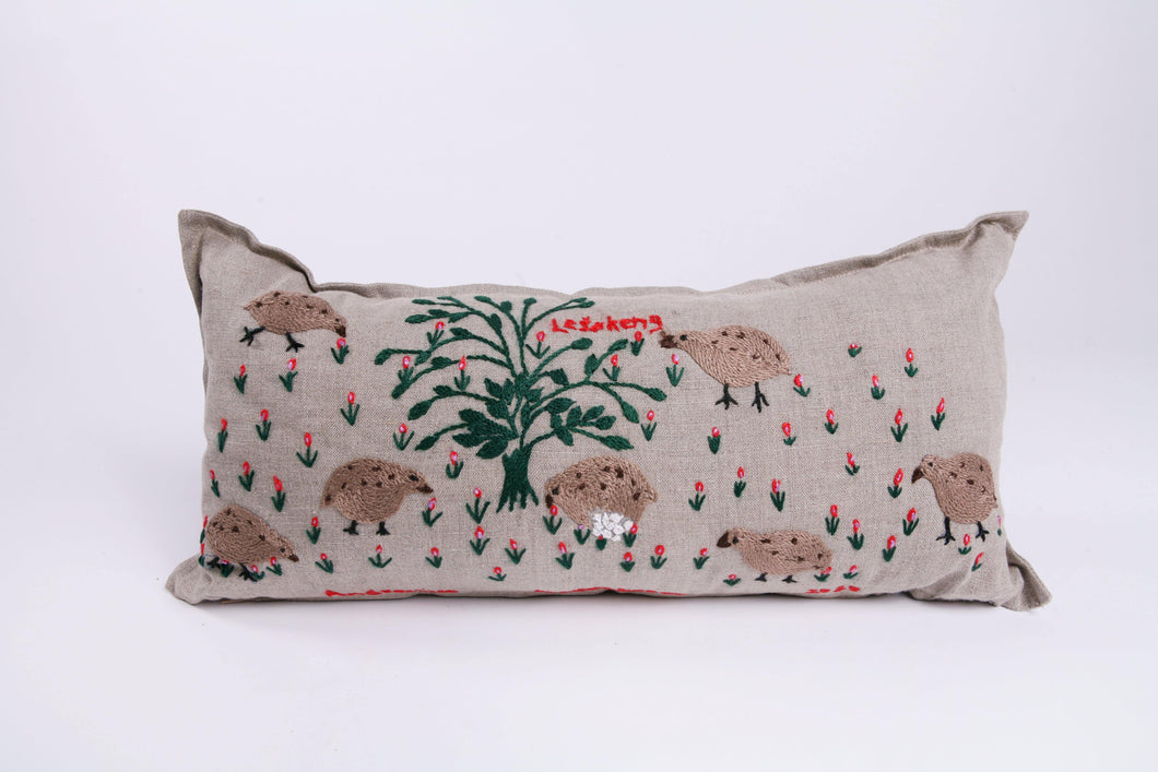 Embroidered Wildlife Story Cushion - 20