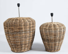 Load image into Gallery viewer, Large rattan lampbase in grey - Hadeda Limited